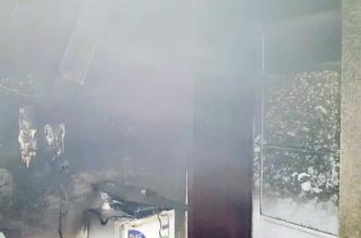 صور.. اختناق شخص وإخلاء 3 بسبب حريق في رابغ - المواطن
