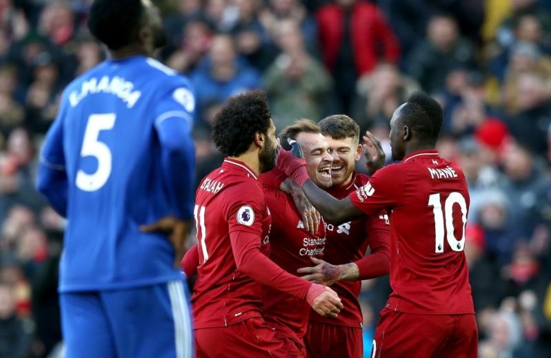 لقاء ليفربول ضد كارديف .. هدايا صلاح تقود الريدز للفوز برباعية