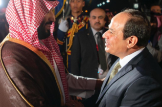 ولي العهد يصل مطار القاهرة والسيسي في مقدمه مستقبليه - المواطن