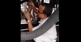 فيديو مروع.. لحظة تحرك قطار أثناء وجود فني صيانة أسفله - المواطن