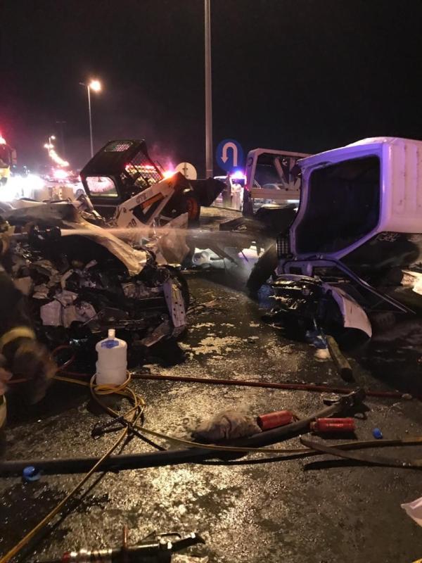 وفاة وإصابة 3 في تصادم مروع على طريق الطائف ـ الباحة