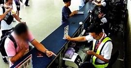 فيديو.. مسافر يصفع موظف مطار على وجهه - المواطن