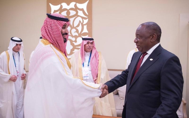 ولي العهد يلتقي رئيس جنوب إفريقيا على هامش قمة مجموعة العشرين - المواطن