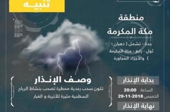 الأرصاد تحذر أهالي مكة من التقلبات الجوية - المواطن