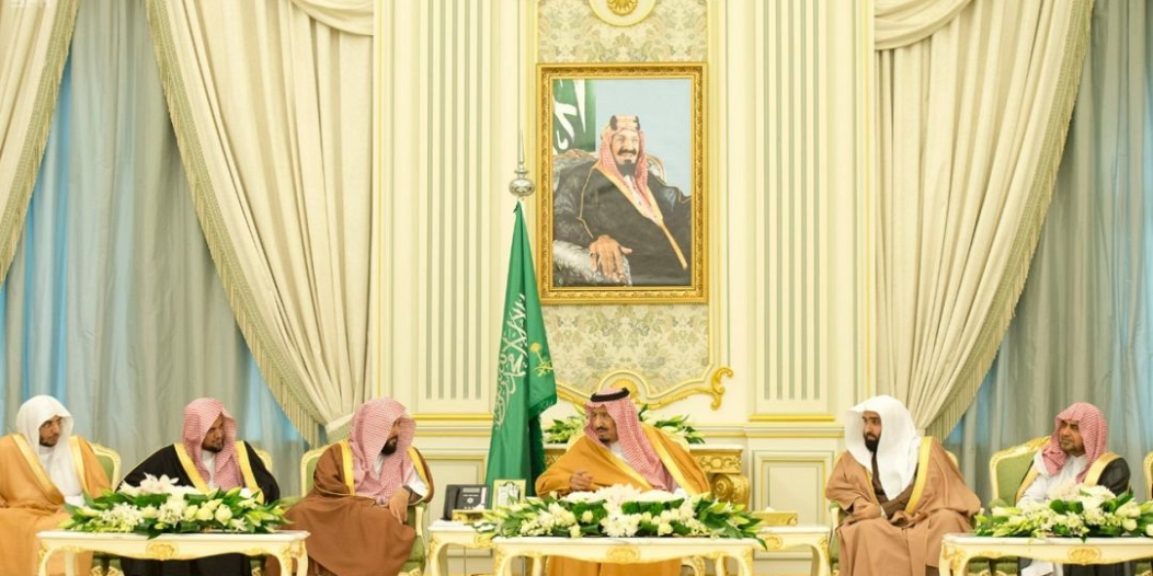 الملك يستقبل أعضاء الأعلى للقضاء والمحكمة العليا والنيابة العامة وديوان المظالم ورؤساء المحاكم
