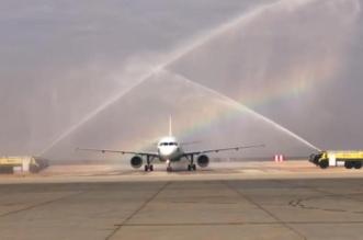 فيديو وصور.. وصول أولى رحلات طيران ناس من الدمام إلى عرعر - المواطن