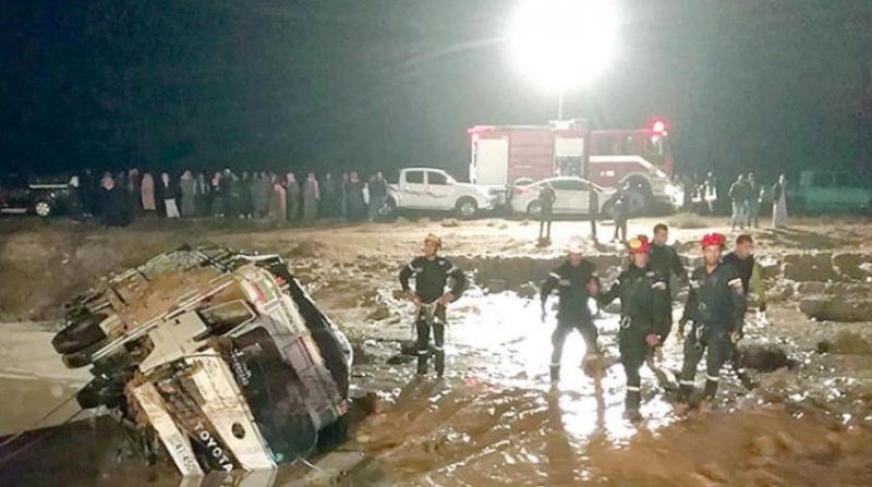 صور.. ارتفاع ضحايا السيول في الأردن إلى 12 حالة وفاة - المواطن