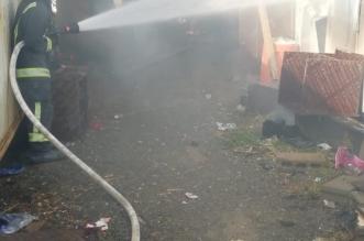 صور ..تسرب الغاز يتسبب بحريق السكن الداخلي لمستشفى خاص بمحايل - المواطن