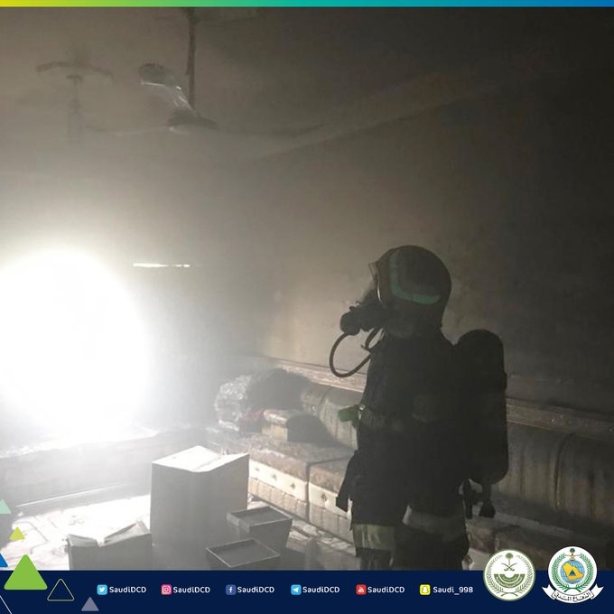 صور.. التماس كهربائي يحرق منزلًا في محايل - المواطن
