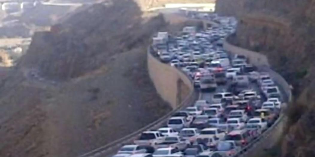 فيديو.. هكذا بدت عقبة ضلع قبل وبعد التنظيم المروري