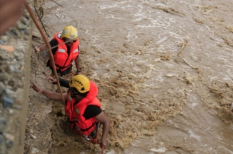 انهيار عقم ترابي في وادي بن عمير بسبب السيول يقتل شخصين - المواطن
