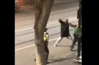 فيديو.. هجوم بسكين يصيب رجال شرطة في أستراليا - المواطن