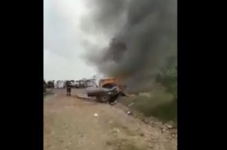 فيديو.. وفاة طالبين وإصابة 11 في حادث مروع على طريق الخوبة العارضة - المواطن
