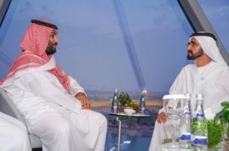 ولي العهد ونائب رئيس الإمارات ومحمد بن زايد يشهدون ختام منافسات الفورمولا 1 - المواطن