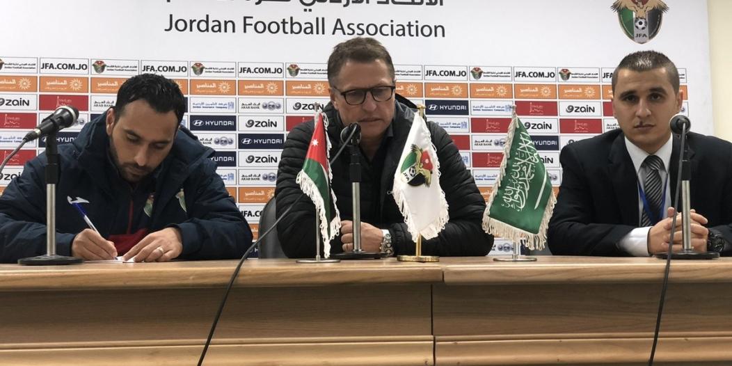 مدرب الأردن: رد الفعل كان قويًا منا أمام السعودية