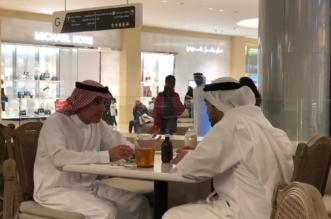 الجبير وعبدالله بن زايد في ياس مول بأبوظبي - المواطن