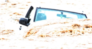 إنقاذ شخص احتجزته سيول وادي القديرة داخل مركبته