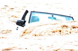 إنقاذ شخص احتجزته سيول وادي القديرة داخل مركبته - المواطن