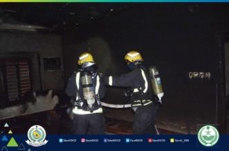 صور.. اختناق امرأة وإخلاء 8 أشخاص في حريق فيلا بجدة - المواطن