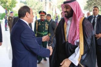 صور.. بدء محادثات ولي العهد والرئيس المصري في قصر الاتحادية - المواطن