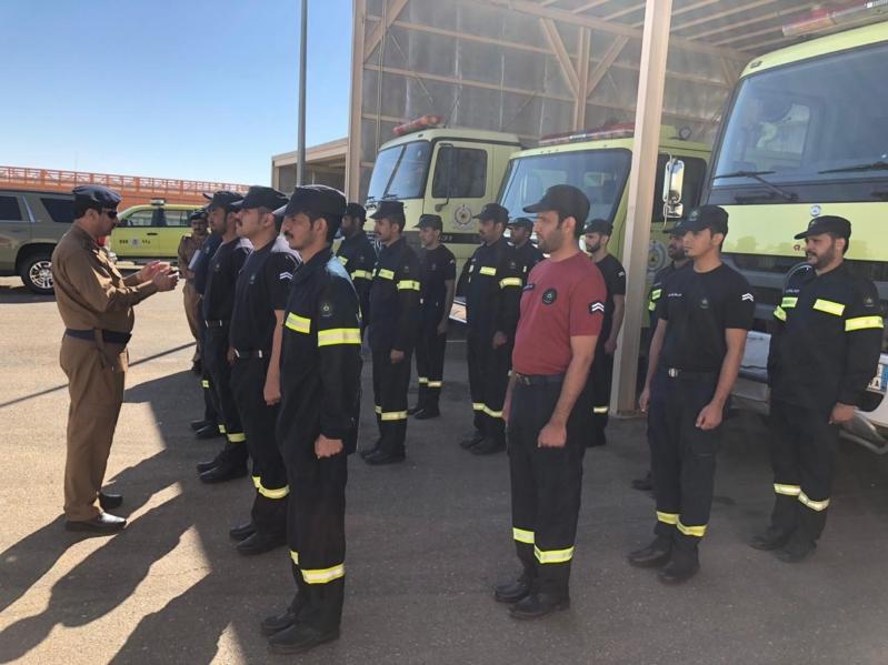 الدفاع المدني يؤهل زوار الجنادرية للتعامل مع حرائق الغاز بتجارب فرضية