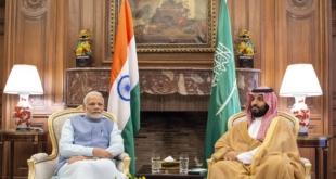 """ولي العهد يستقبل رئيس وزراء الهند.. ويعلن قبول دعوته للانضمام لمبادرة """"الاتحاد الدولي للطاقة الشمسية"""""""