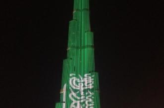 برج خليفة يتزين بالأخضر احتفاء بولي العهد - المواطن