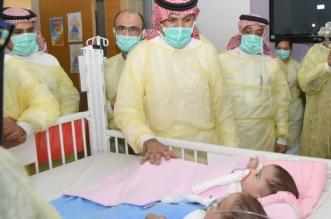 صور.. وزير الحرس الوطني يطمئن على صحة التوأم السيامي شيخة وشموخ - المواطن