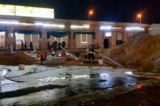 إصابة 3 وافدين في حريق محطة وقود بتيماء - المواطن
