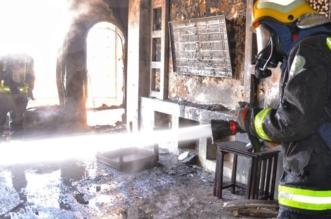 التماس كهربائي يُشعل حريقًا في بناية بحي الملك فهد - المواطن