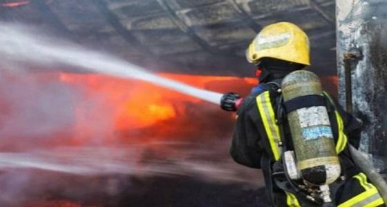 حريق يقطع التيار الكهربائي بعدة أحياء في شرائع مكة