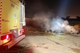 حريق في موقع نفايات ومخلفات بحي الشرفة - المواطن