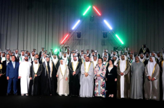 سعيد بن طحنون يحضر العرس الجماعي العربي الأول في #الشارقة - المواطن