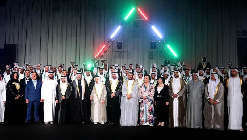 سعيد بن طحنون يحضر العرس الجماعي العربي الأول في #الشارقة
