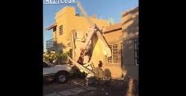 فيديو.. لحظة سقوط طائرة على منزل في المكسيك