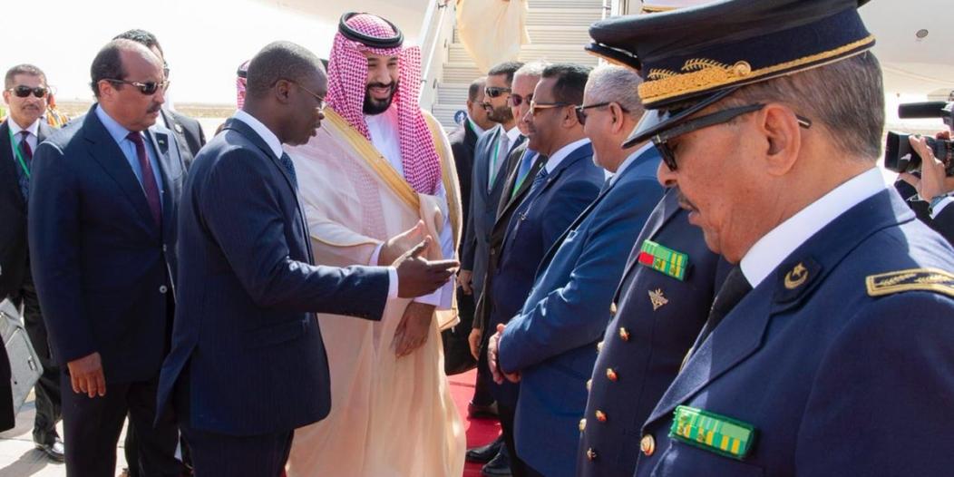 تفاصيل وصول ولي العهد إلى موريتانيا .. وهؤلاء ضمن الوفد المرافق