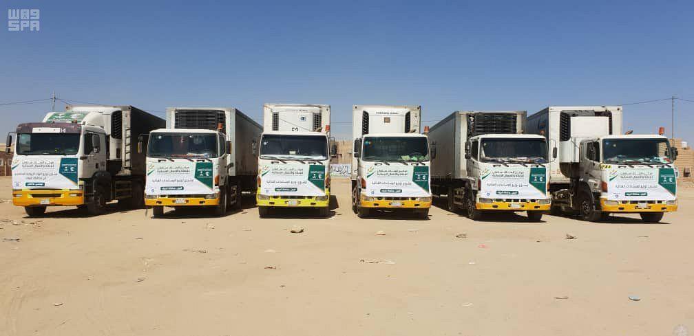 صور.. وصول 14 شاحنة تحمل مساعدات غذائية إلى الجوف اليمنية