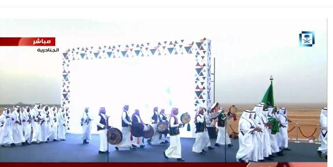 عروض فلكورية في #الجنادرية_33 بحضور الملك سلمان وضيوفه