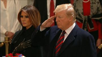 فيديو.. رحلة بوش الأب الأخيرة إلى واشنطن وتعظيم سلام من ترامب وزوجته