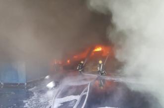 بدون إصابات.. حريق في مصنع أسفنج بالمدينة المنورة والمدني يتدخل - المواطن