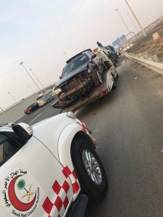 إصابة 7 أشخاص في تصادم مروع على طريق المطار بجدة