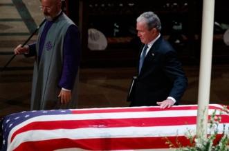 فيديو.. #بوش_الابن يجهش بالبكاء أثناء تأبين والده - المواطن