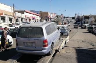صور.. سحب أكثر من 50 سيارة تالفة من صناعية أبها - المواطن