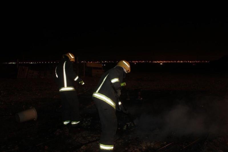 انسكب كيروسين المدفأة فمات طفلان وأصيبت امرأة في حريق خيمة برفحاء