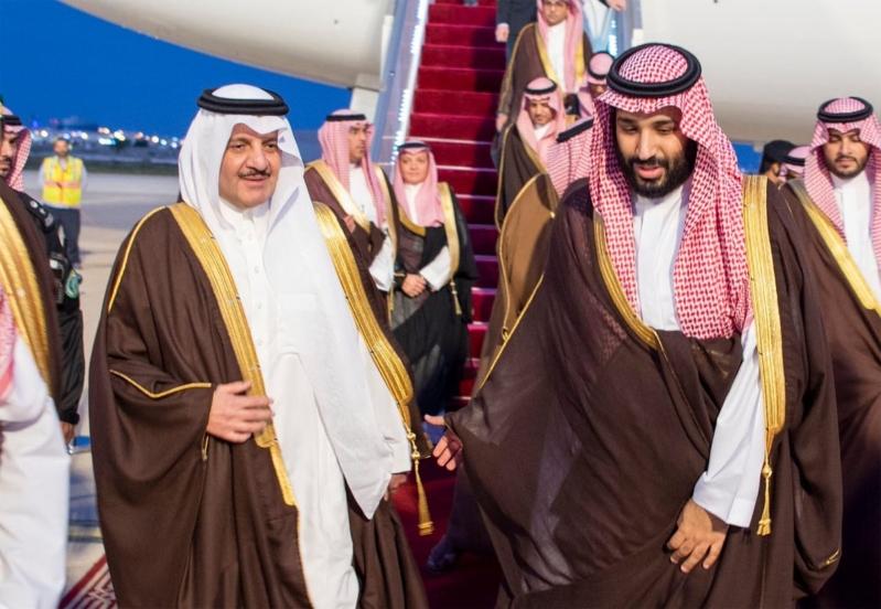 فيديو وصور.. لحظة وصول محمد بن سلمان لمقر #سبارك_السعودية