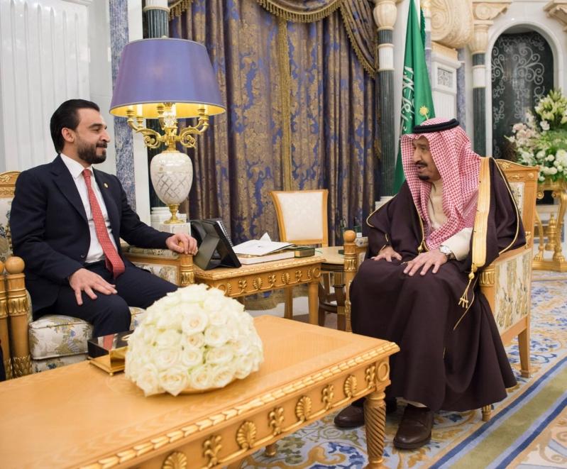 الملك سلمان يستعرض آفاق التعاون مع رئيس مجلس النواب العراقي