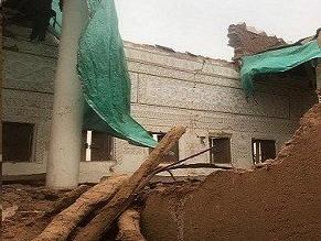شاهد.. انھیار أجزاء من قصر السبیعي التاریخي بشقراء - المواطن