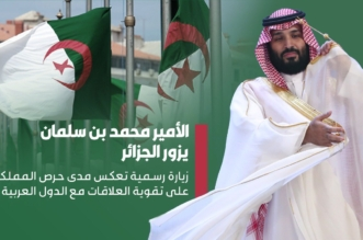 ولي العهد يصل الجزائر في زيارة رسمية ضمن جولته العربية - المواطن