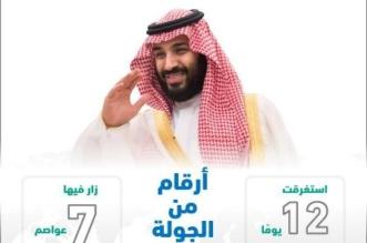 جولة ولي العهد بالأرقام.. زيارة 7 عواصم في 12 يوماً - المواطن