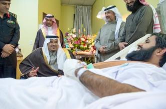 نائب أمير الرياض يطمئن على صحة الرائد الوادعي - المواطن